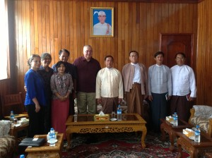 Public-Private Partnership Collaboration with Mon State Governor and Myanmar officials
